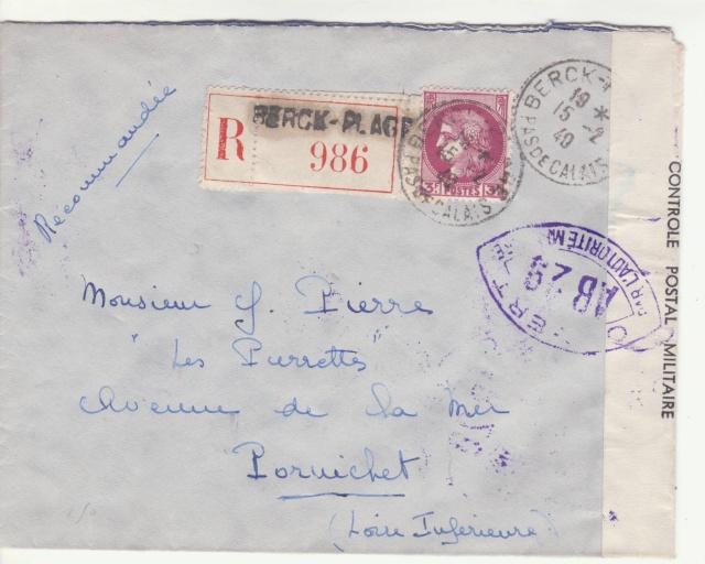 Tarif de la recommandation pendant la Deuxième Guerre mondiale _7000412