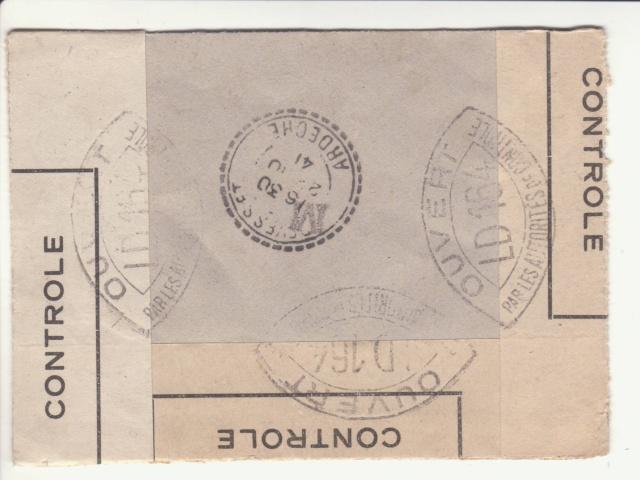Tarif des lettres pendant la Deuxième Guerre mondiale _7000610