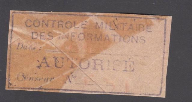 Le contrôle des informations - Censure de la Presse et  dela publication (1945 AZ130) _7000614