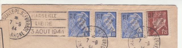 """Timbres surchargés """" RF GOUVERNEMENT PROVISOIRE + Croix de Lorraine """" ? _7000810"""