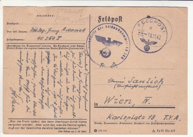 Carte Feldpost (Fdp) de la Forteresse de Lorient. _7000912