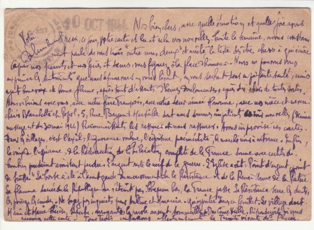 Tarif des cartes postales pendant la Deuxième Guerre mondiale _8000210