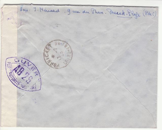 Tarif de la recommandation pendant la Deuxième Guerre mondiale _8000312