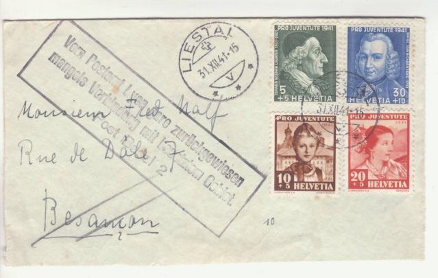 """Cachet """" Refoulé par bureau postal Lyon gare """". _8000416"""