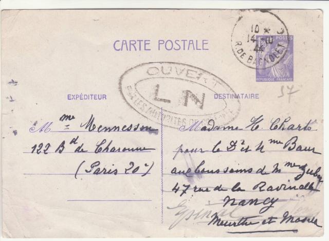 Tarif des cartes postales pendant la Deuxième Guerre mondiale _9000211