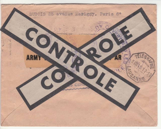 Le contrôle des informations - Censure de la Presse et  dela publication (1945 AZ130) _d000210
