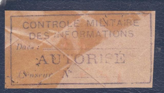 Le contrôle des informations - Censure de la Presse et  dela publication (1945 AZ130) _g000110