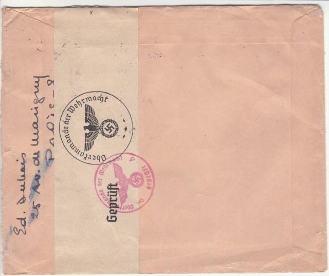 Le contrôle des informations et de la Presse en France pendant l'occupation allemande.  _i10