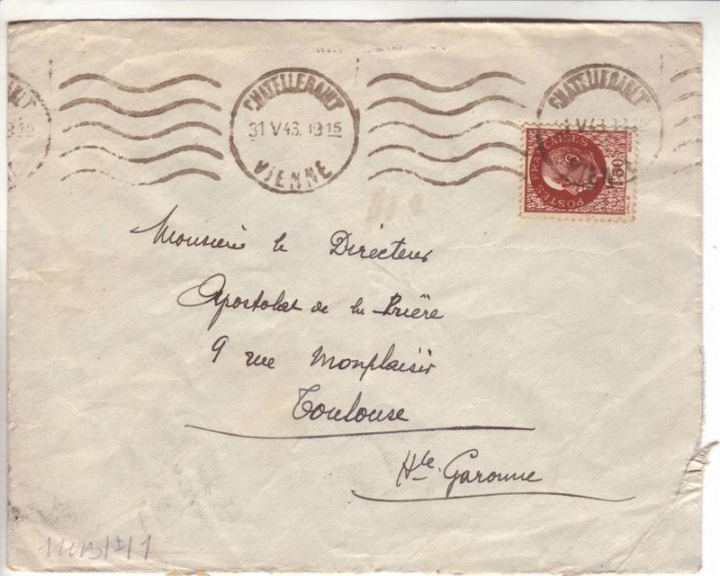 Courrier intérieur contrôlé par la commission allemande de Bordeaux  A000310