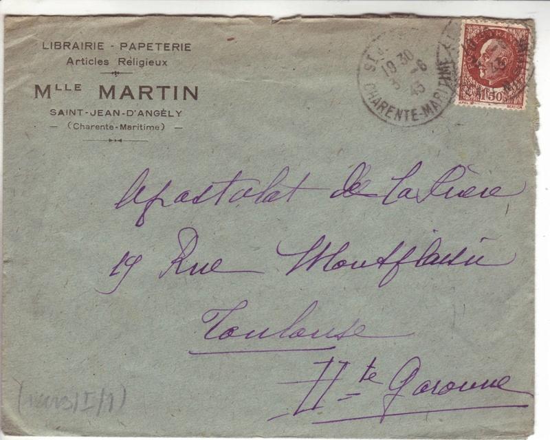 Courrier intérieur contrôlé par la commission allemande de Bordeaux  C000210