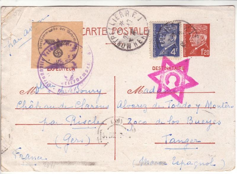 Contôle hors du commun des cartes postales par la BP bordeaux en décembre 1942 et janvier1943 G000110