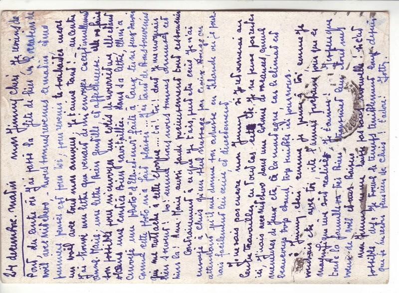 Contôle hors du commun des cartes postales par la BP bordeaux en décembre 1942 et janvier1943 J10