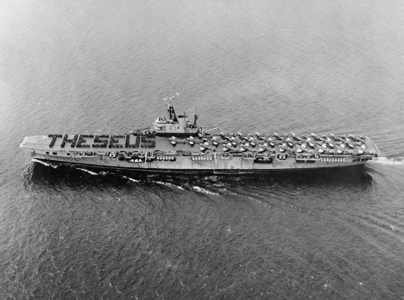 COLOSSUS - Porte-avions classe COLOSSUS britannique. - Page 2 Theseu13