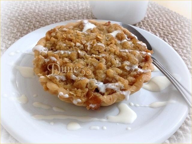 Tarte crumble aux pommes et caramel beurre salé Asohny12