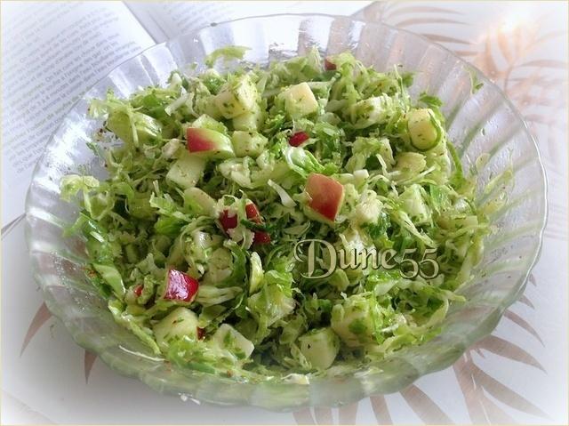 Salade de choux de Bruxelles pomme-cheddar Iuwjbw10