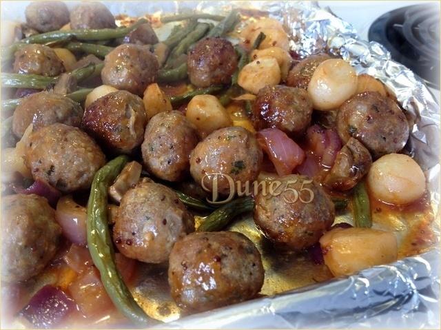 Boulettes de boeuf sauce caramélisées Plaxoc10