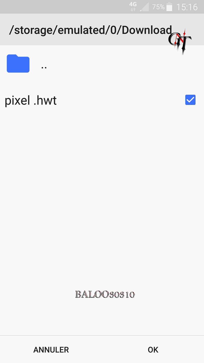 Crée ses propres thèmes via thèmes Editor pour les ( HUAWEI ) Screen27