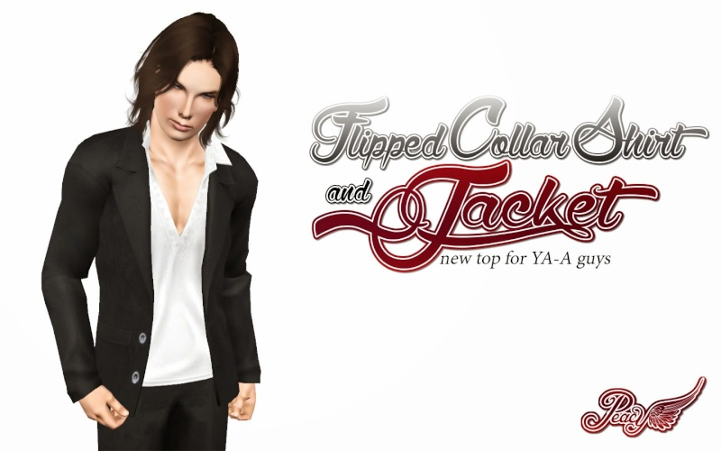 Flipped Collar Shirt and Jacket by Simsational Designs Flippe10