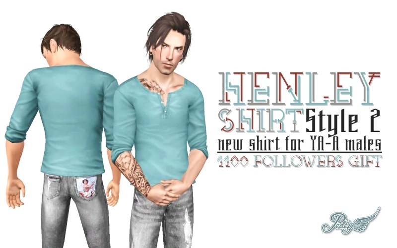 Henley Shirt - Style 2 by Simsational Designs Henley10