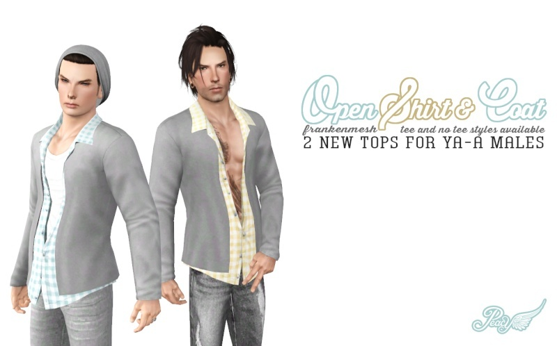Frankenmesh - Casual Shirt and Jacket (2 styles) by Simsational Designs Opensh10