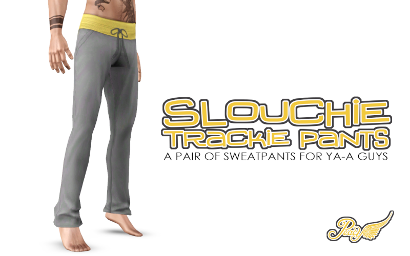 Slouchie Trackie Pants - sweatpants for your guys by Simsational Designs Pc-slo10