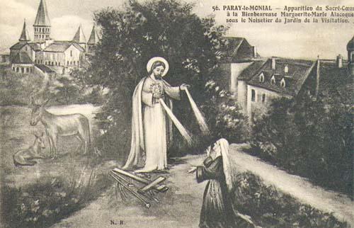 Neuvaine au Sacré-Coeur de Jésus - les sanctuaires de Paray-Le-Monial. Appari10