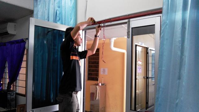 Pemasangan Sistem Penggera Di Bangunan Sekolah. Img_2063