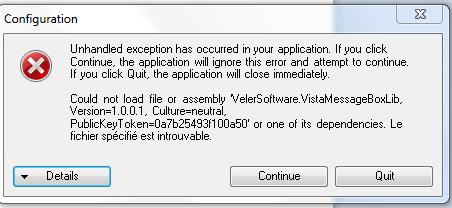 projet - bug a l'ouverture d'un projet Erreur11
