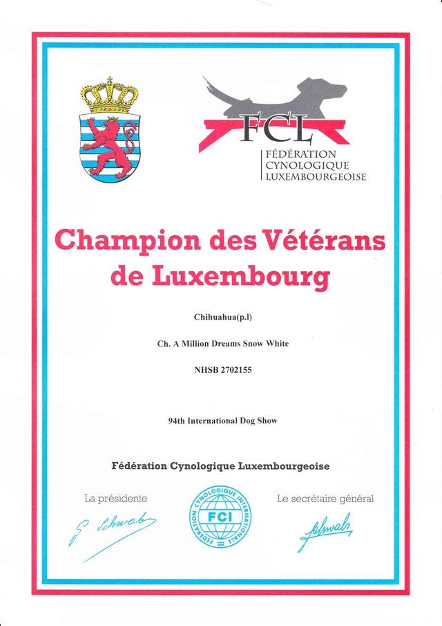 Neige Championne des Vétérans de Luxembourg  Diplom12