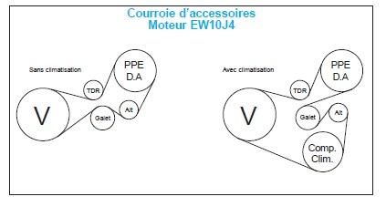 Informations alternateur et courroie Courro11