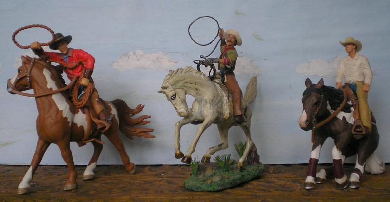 Cowboy zu Pferd mit Lasso - Umbau in der Figurengröße 7 cm - Seite 2 139j1b10