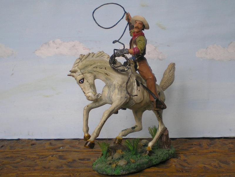 Cowboy zu Pferd mit Lasso - Umbau in der Figurengröße 7 cm - Seite 2 139j2b14