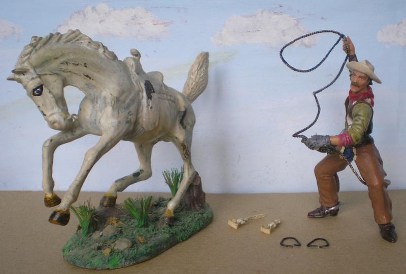 Cowboy zu Pferd mit Lasso - Umbau in der Figurengröße 7 cm - Seite 2 139j2b16
