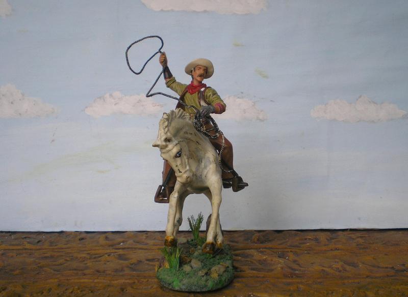 Cowboy zu Pferd mit Lasso - Umbau in der Figurengröße 7 cm - Seite 2 139j2b17