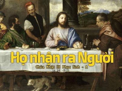 Chúa Nhật III Phục Sinh Năm A - (30.04.2017) Suy Niệm Lời Chúa Cn3-ps12