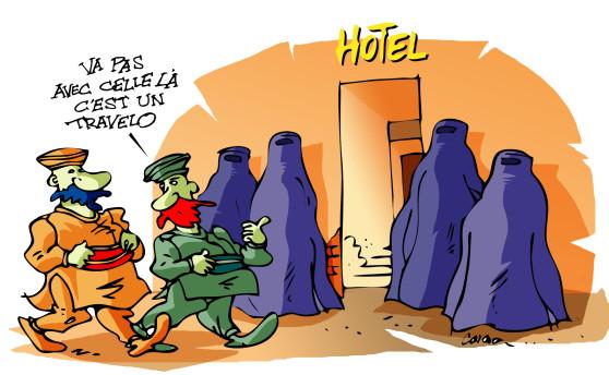 DESSINS  HUMORISTIQUES   (pas de photos) Burka-10