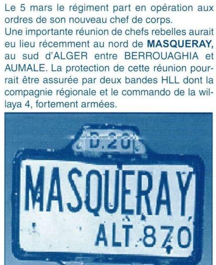 1er RCP 1958 Algérie Masqueray Ma410