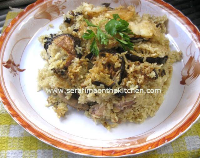 Маклюбе - Маклюбе (маглюбе) по-иордански (курица, баклажан, картофель, рис). Арабская кухня Maglub10