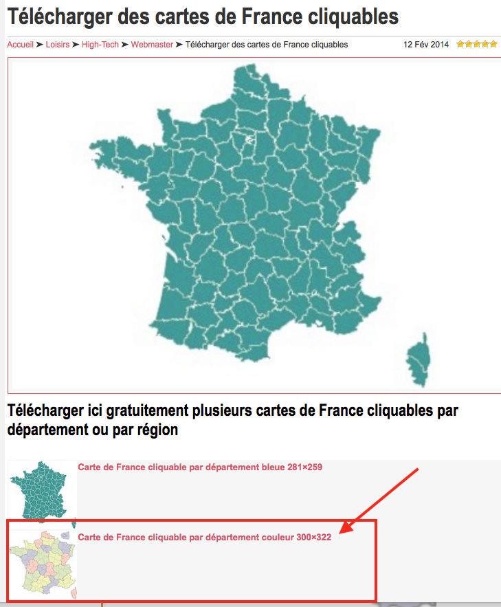 insertion carte des départements français interactive Captur13