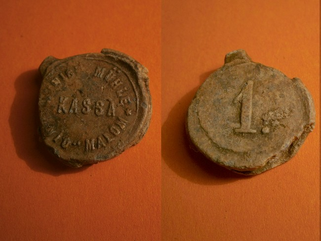 "031 - Plombs de scelle ""Kassa Union Mühle - Unió Malom"". 02332"