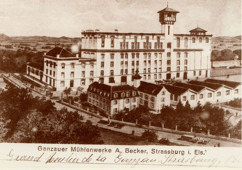 "Bas-Rhin - Plomb de scelle ""A. Becker a la Gantzau (Strasbourg)"". A_beck10"