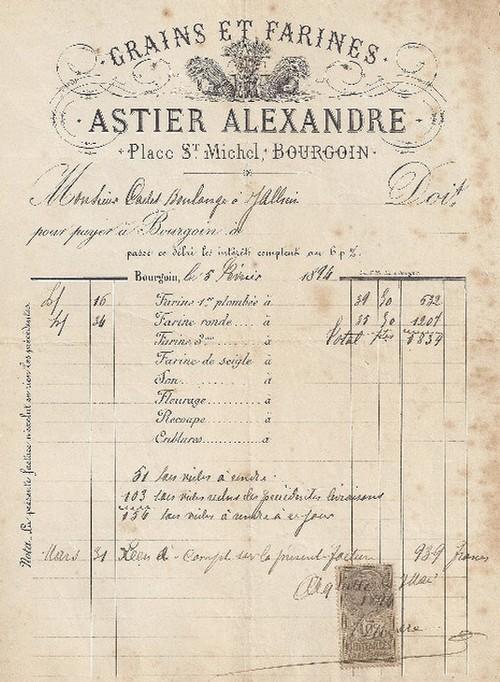 Plomb de chaux - Resolue : plomb de scelle pour gruaux d'Alexandre Astier a Bourgoin. Astier10