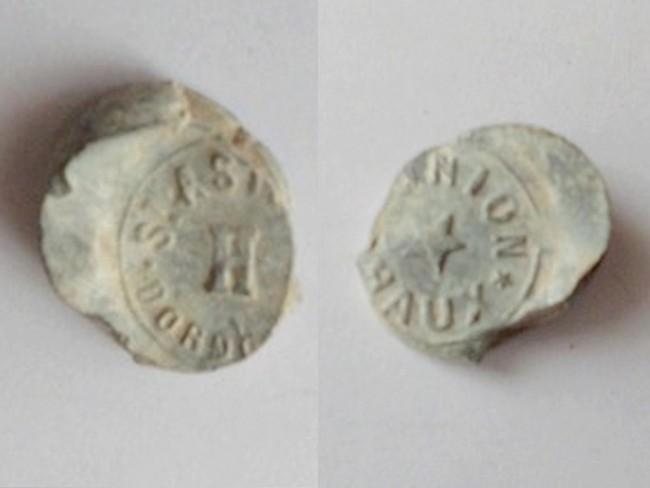 """Dordogne - Plombs de scelle """"Union Chaux - Saint Astier"""". Cimg1710"""