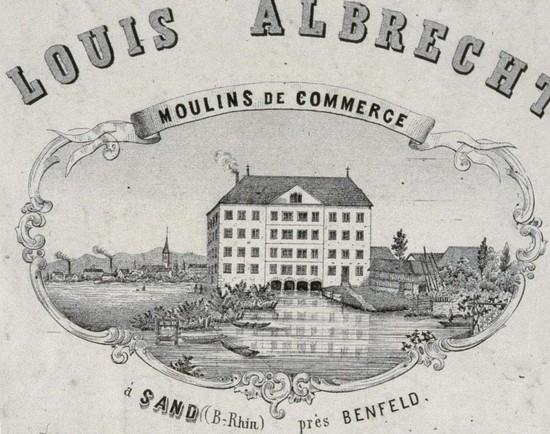 "Bas-Rhin - Plomb de scelle ""A. Sand "" (Louis Albrecht a Sand). Moulin12"