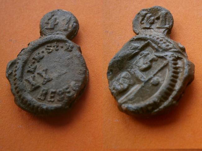 """Plombs de scelle """"K.K.St.B. Reserve K.chiffre romain."""". P9120012"""
