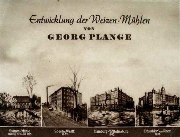 "077 - Plomb de scelle ""GEORG PLANGE - WEIZENMÜHLE DÜSSELDORF"". Plange10"