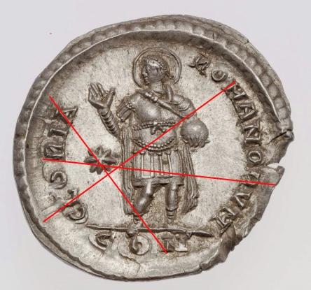 Comparaison de coins du Miliarense de Théodose II   Boston10