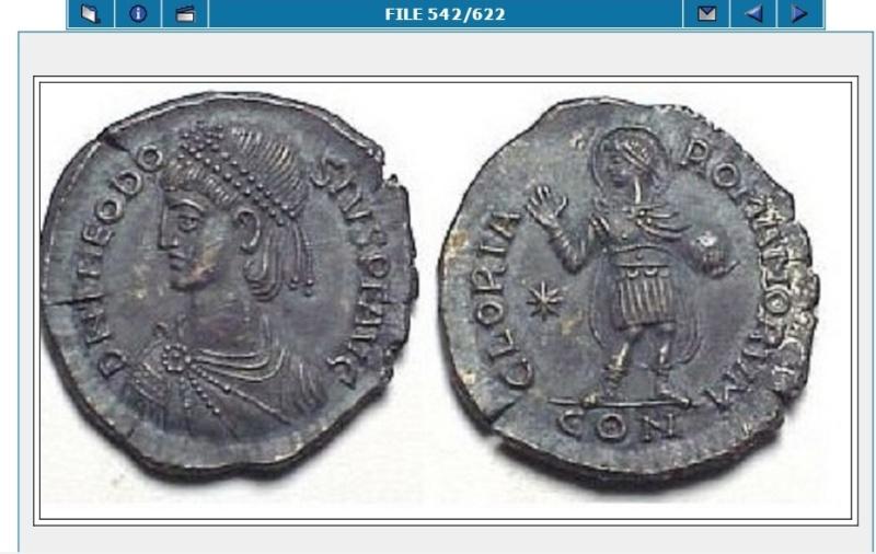 Comparaison de coins du Miliarense de Théodose II   Fake_s10