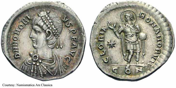 Comparaison de coins du Miliarense de Théodose II   - Page 2 Honor010