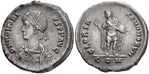 Comparaison de coins du Miliarense de Théodose II   - Page 2 Honori11